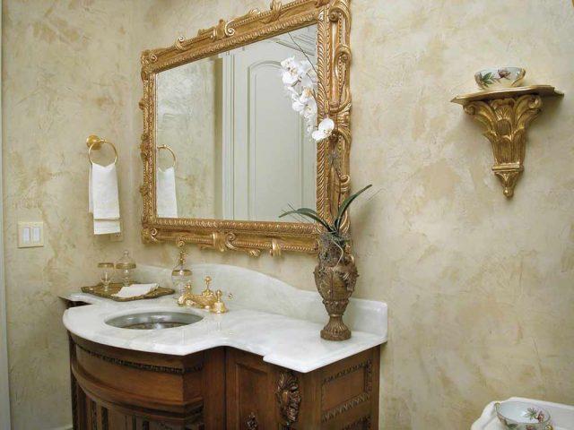 Декоративная штукатурка для отделки стен в ванной