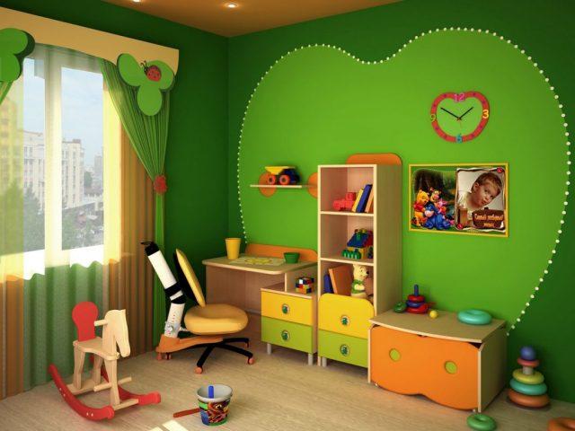 оформляем детскую в зеленые тона