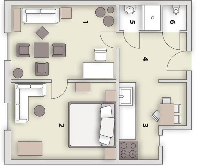 Рисуем план комнат