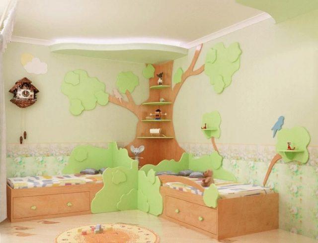 оформление спальни для двоих детей