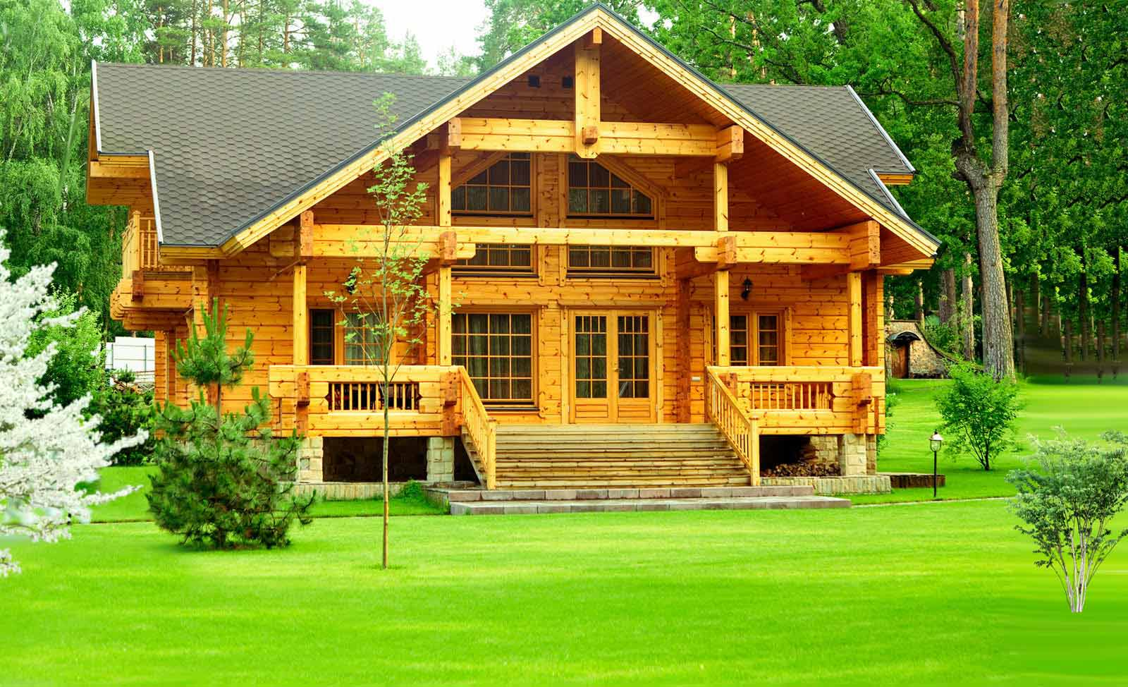 Деревянные загородные дома фото