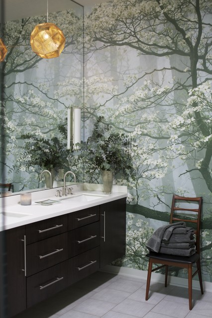 влагостойкие фотообои для ванной комнаты