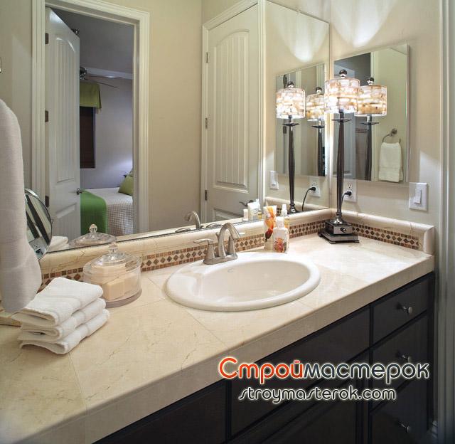 Столешница для ванной компанты столешница ольха глянец