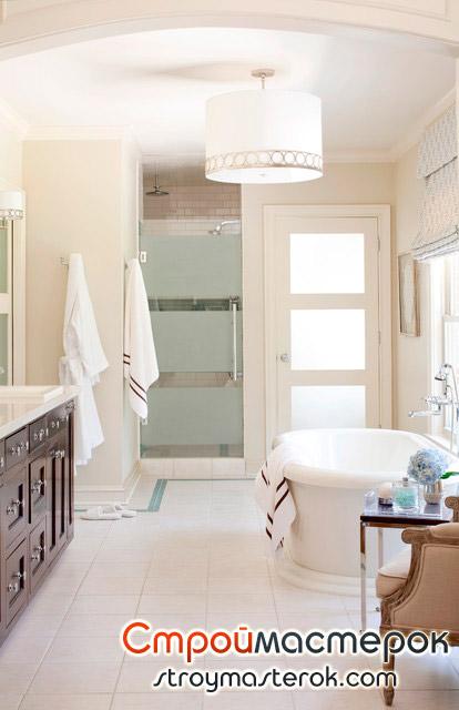 Филенчатая дверь для ванной комнаты