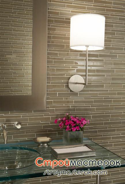 Стеклянная раковина-столещница для ванной комнаты