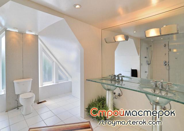 Стеклянная мебель в ванной
