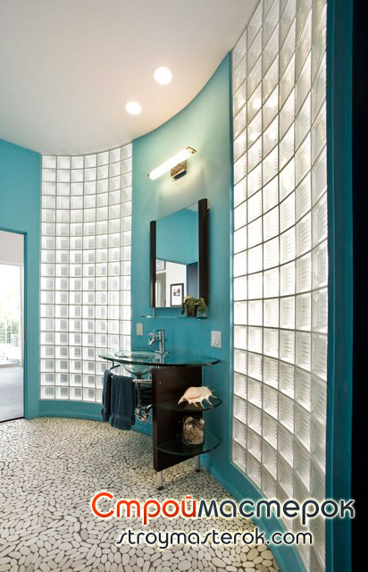 Стеклянная мебель для ванной комнаты