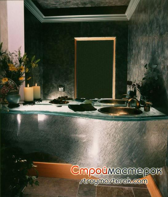 Красивая стеклянная мебель для ванной
