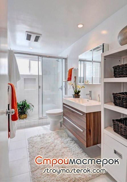 Зеркало для ванной со шкафом