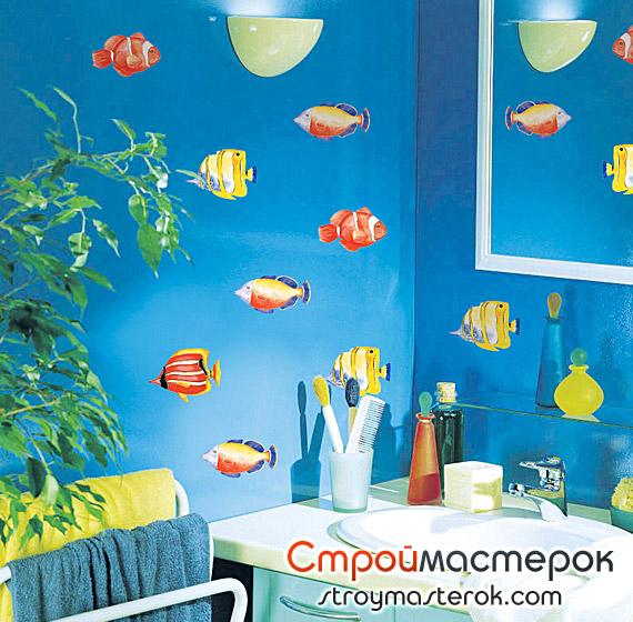 виниловые наклейки в виде рыбок