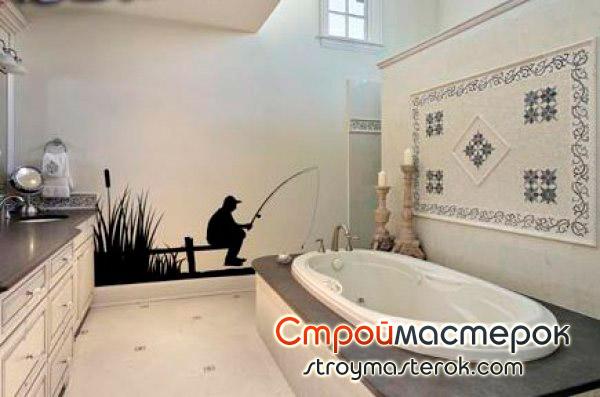 наклейки на стены в ванной