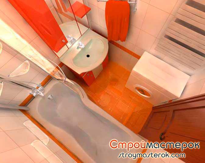 Дизайн ванной комнаты 170х170