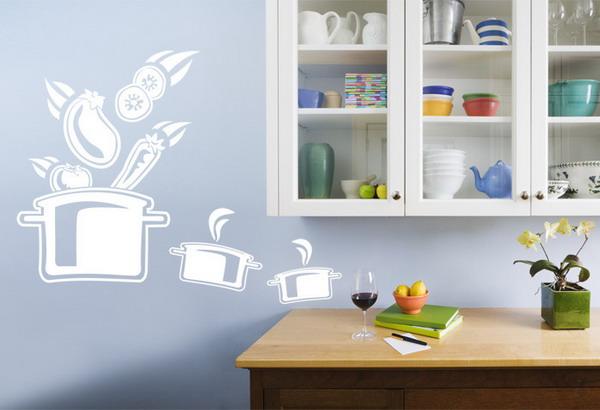 Рисунки на кухне своими руками