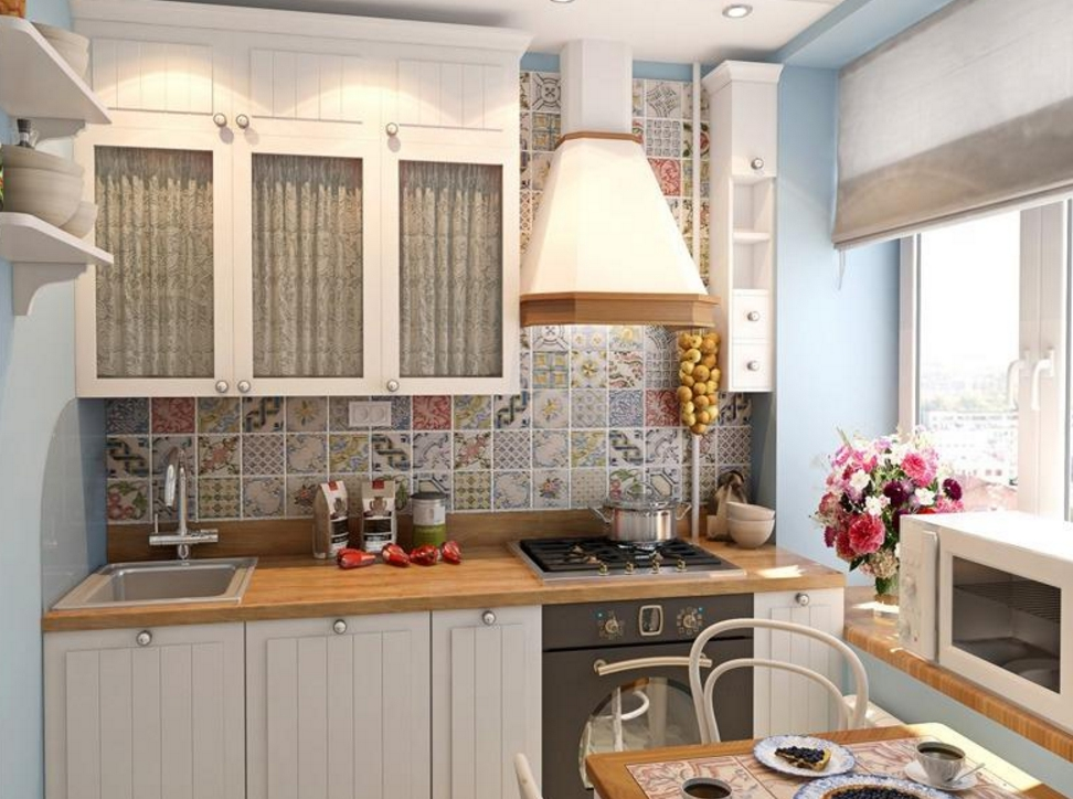 Идеи интерьера кухни в хрущевке на 6 метров квадратных.