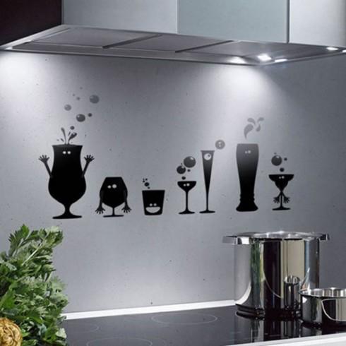 Виниловые наклейки на фартух в кухне