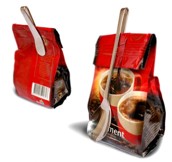 Ложка - зажим для пакета кофе