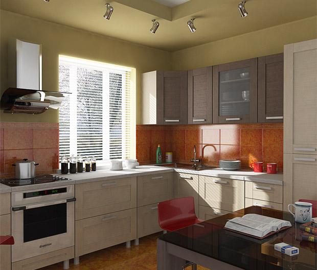 Угловые маленькие кухни 20 фото малогабаритных кухонь