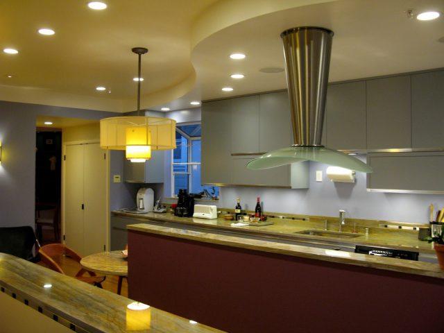 Освещение нужных участков на кухне
