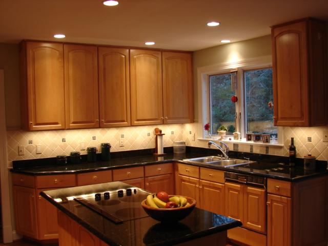 освещении на маленькой кухне