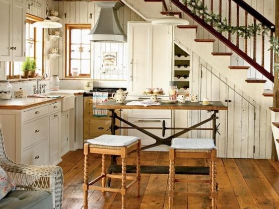 оформление кухни в частной доме