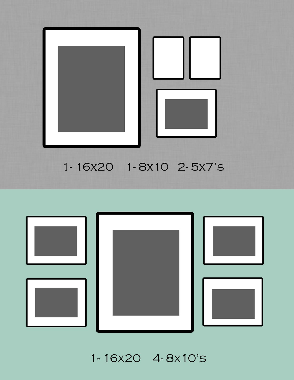 Схема коллажа изграфий на стену
