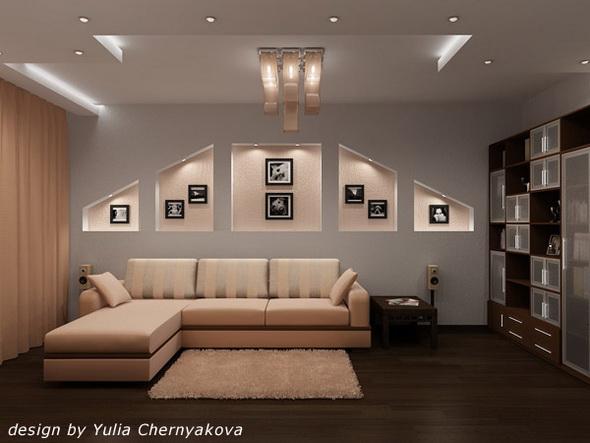 ниши в стене с подсветкой
