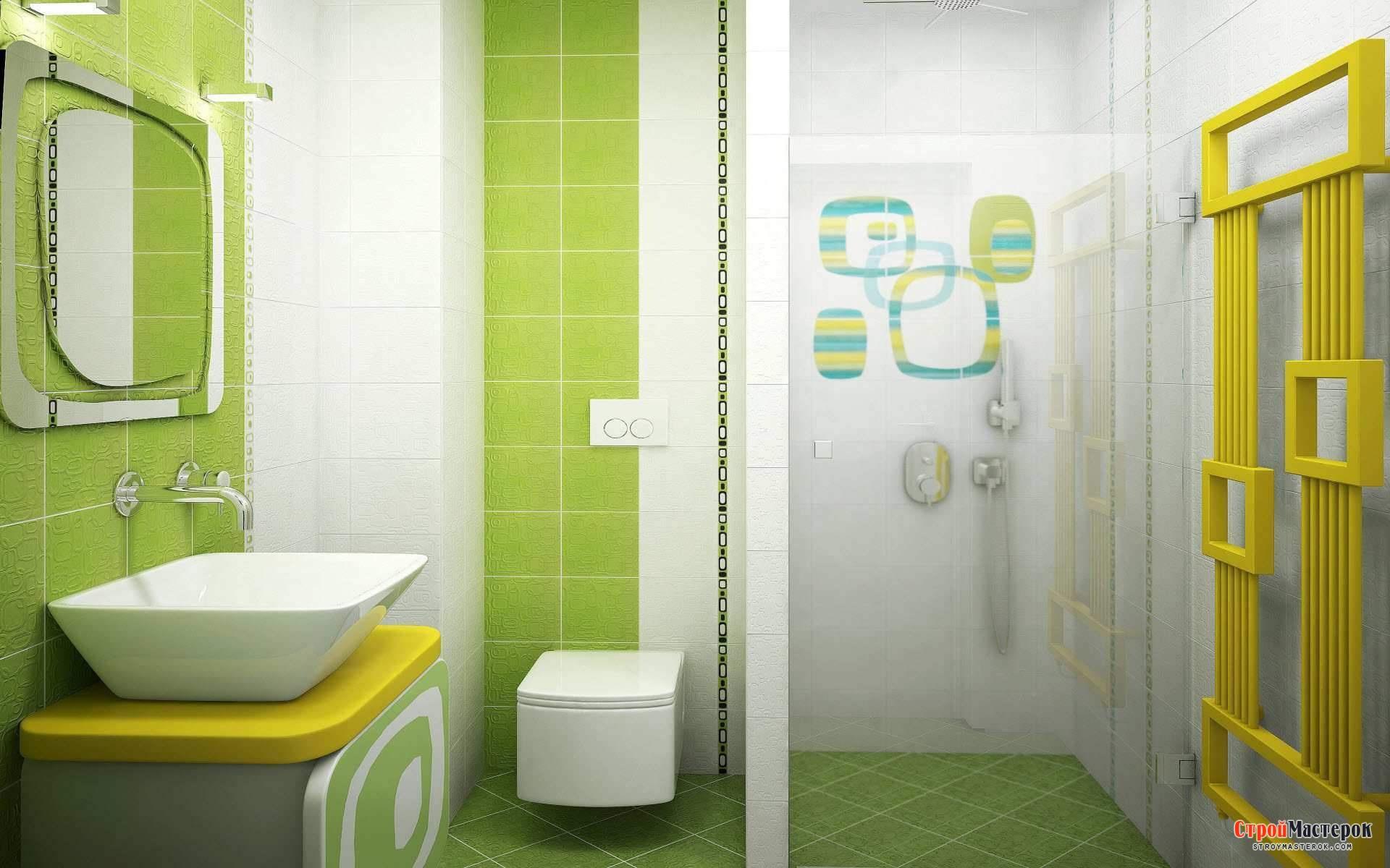 Модный дизайн ванной комнаты