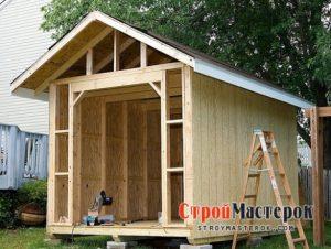 Строим сарай на даче собственными руками