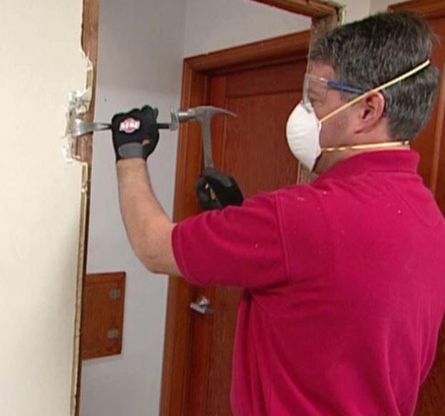подготовка проема под монтаж металлической двери