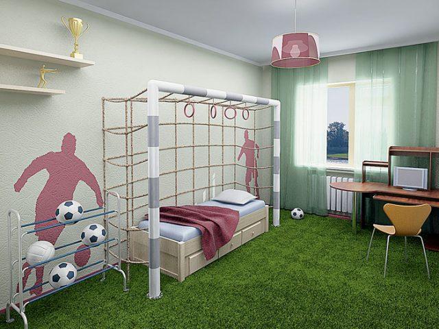 Футбольные ворота в комнате