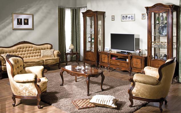 mobila-lemn-masiv-Camera de zi