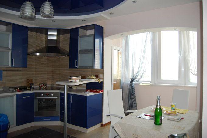 Совмещение кухни с балконом п 111 м..