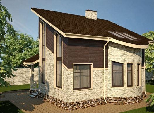 Односкатная форма крыши