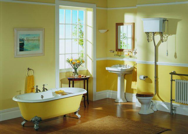 ванная комната желтого цвета