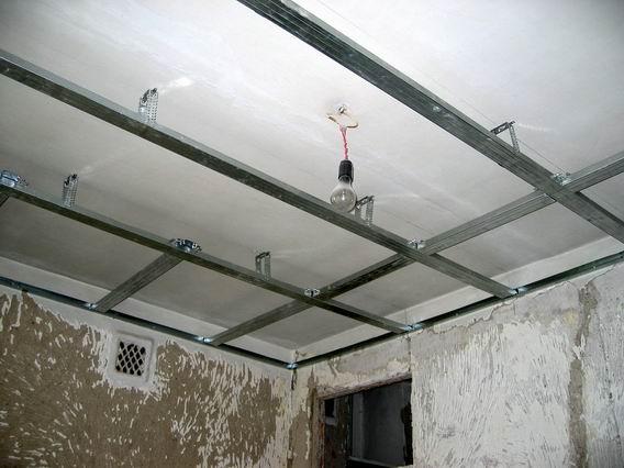 Подвесные потолки установка своими руками фото