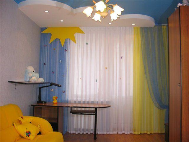 Занавески в детскую комнату своими руками фото