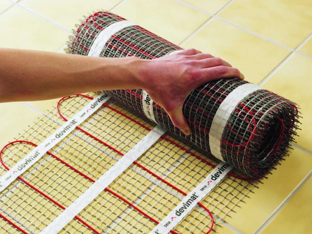 Кабельные маты для обогрева напольного покрытия