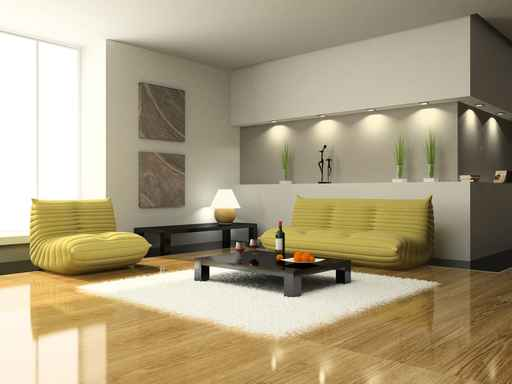 View on the modern living-room