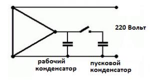 Пусковой конденсатор подключние