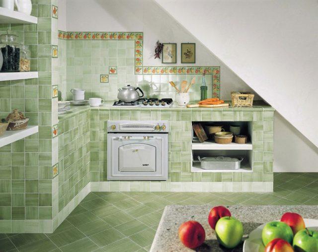 Керамическая плитка для кухни- оформляем фартук