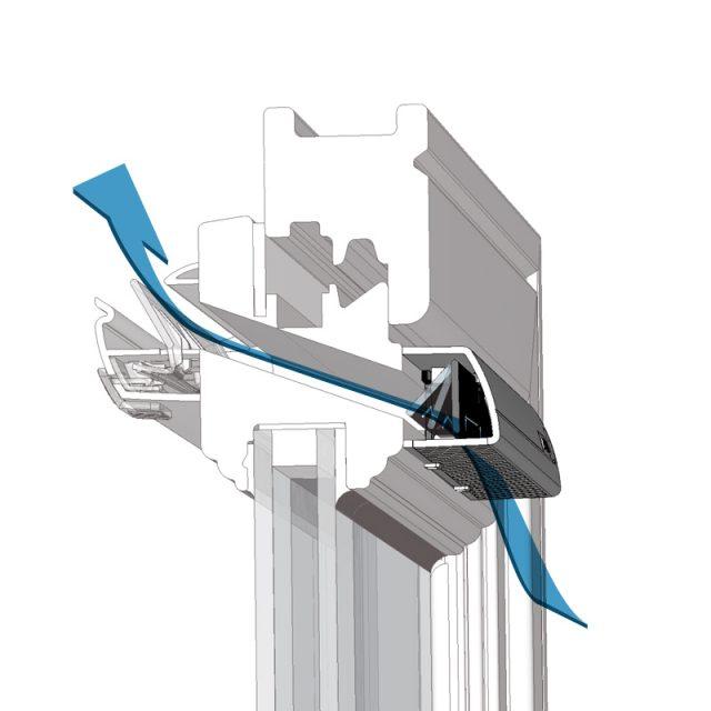 Вентиляционный клапан для пластиковых окон - работа