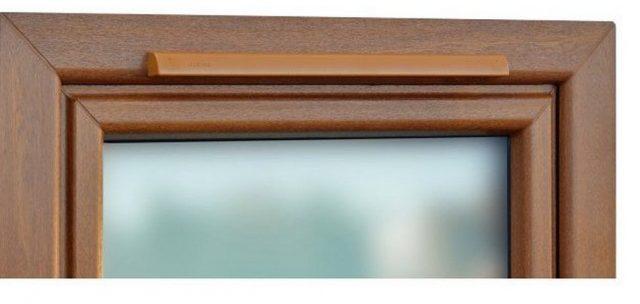 оконный клапан для пластиковых окон - вида на месте установки