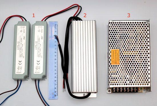 виды блоков питания для светодиодной ленты