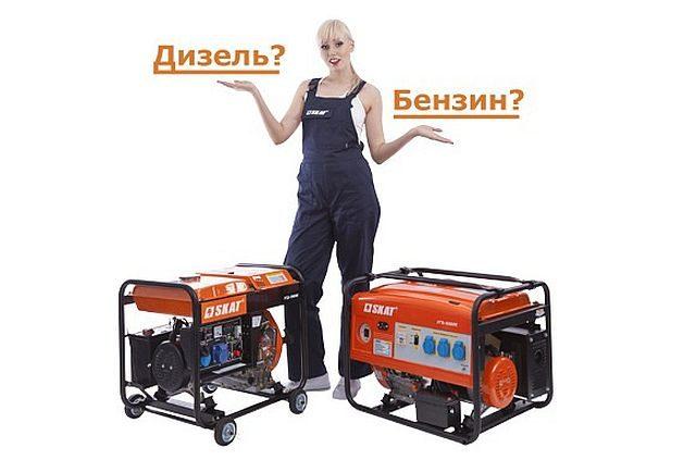 выбор генератора по типу двигателя