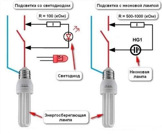 моргание_энергосберегающей_лампы